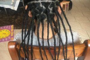 Underneath dreadlocks London after